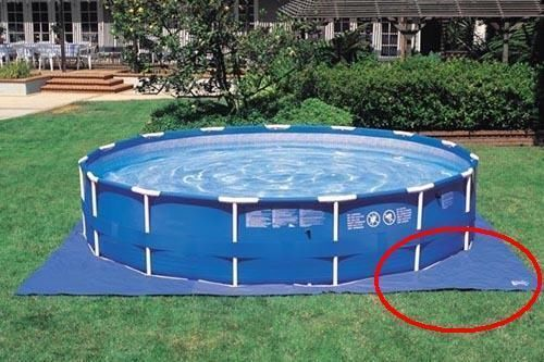 Tappetino per piscina telo intex sottofondo cm 472x472 cod - Telo per piscina intex ...