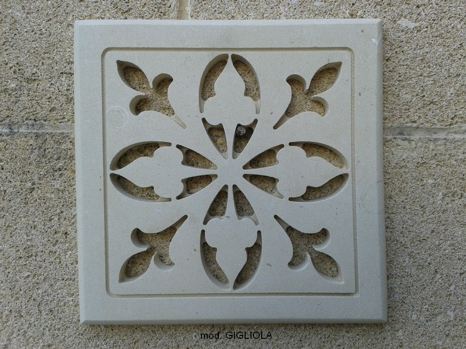 Prese d 39 aria griglia areazione in pietra leccese cm 20x20 - Griglie di aerazione design ...