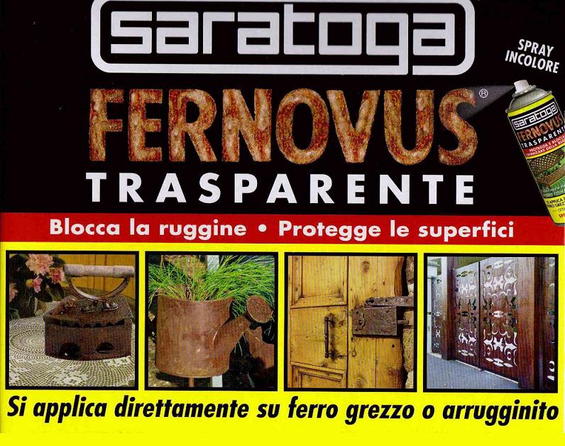 Saratoga spray fernovus vernice trasparente blocca ruggine for Vernice per ferro